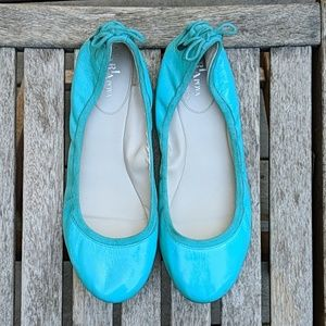Cole Haan x Maria Sharapova Teal Leather Ballet